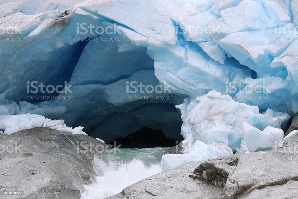 Nigardsbreen Glacier stock photo