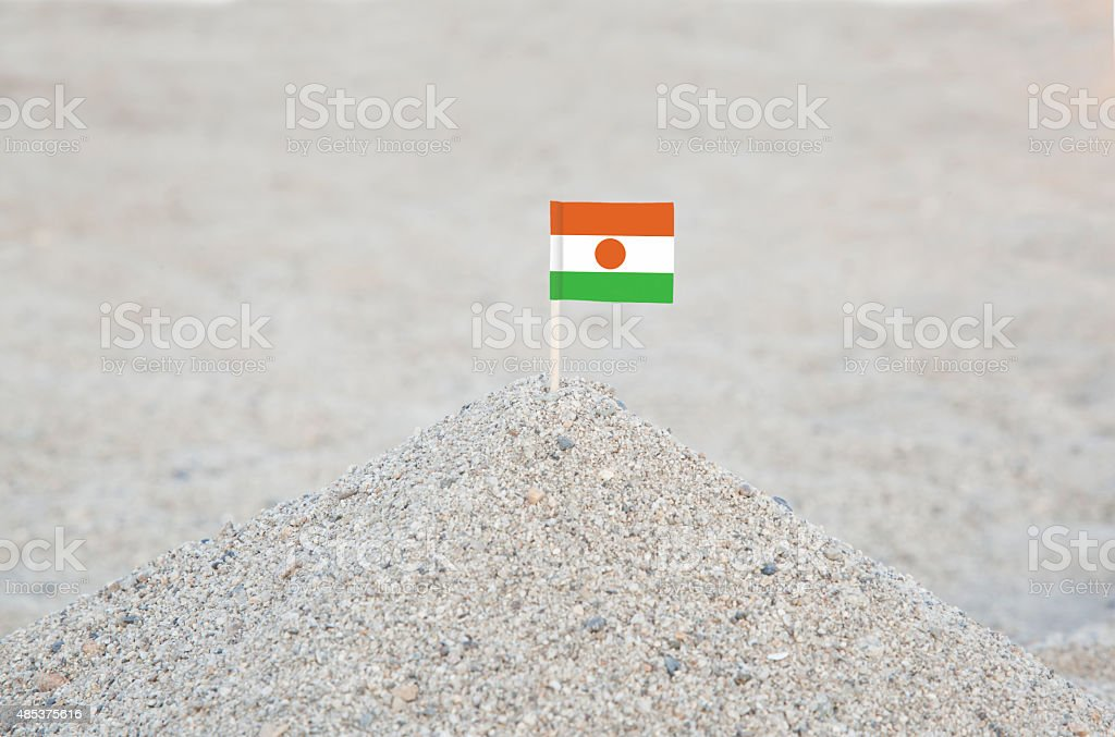 Niger Flag on the Beach stock photo