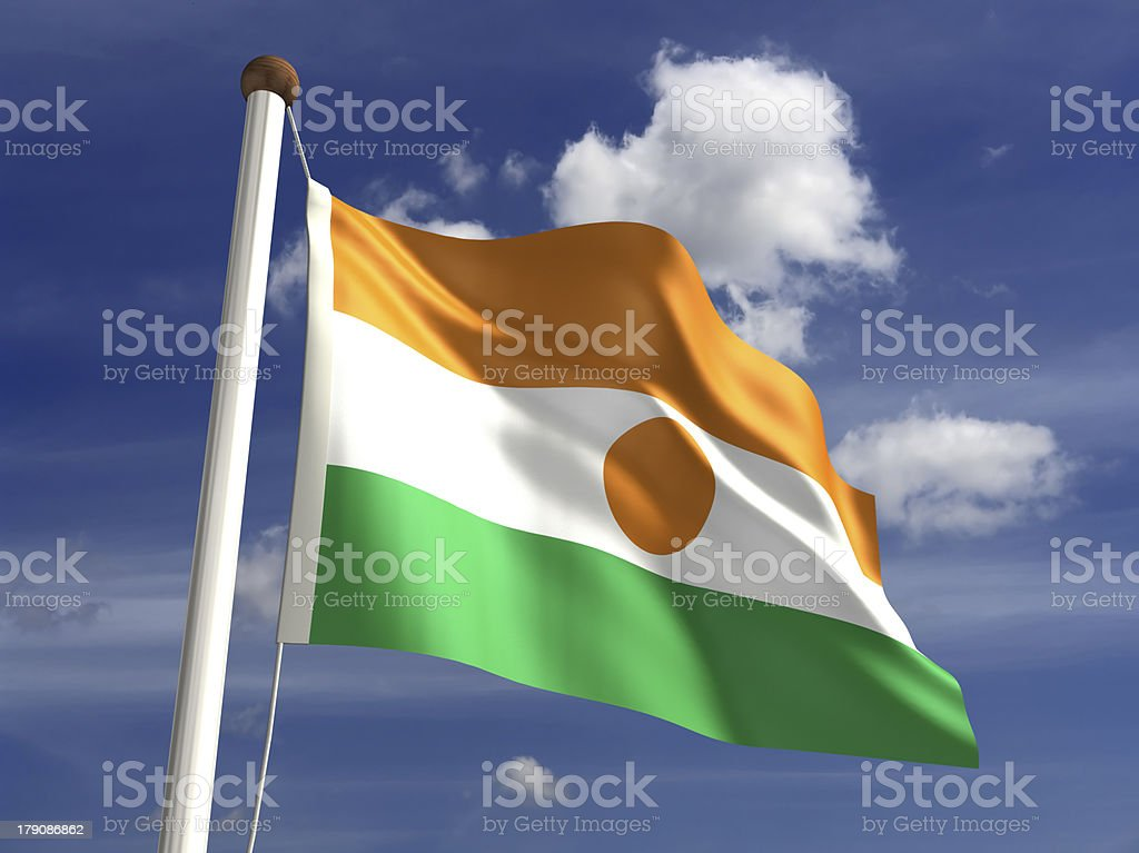 Niger flag (with clipping path) royalty-free stock photo