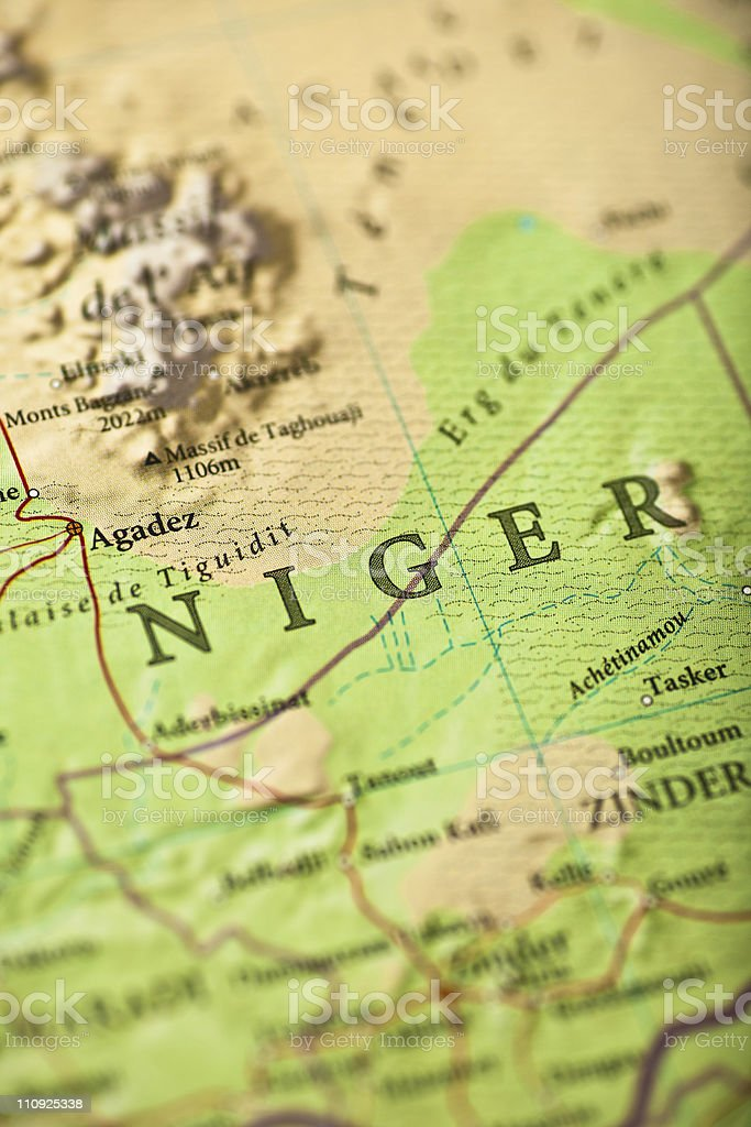 Niger map stock photo