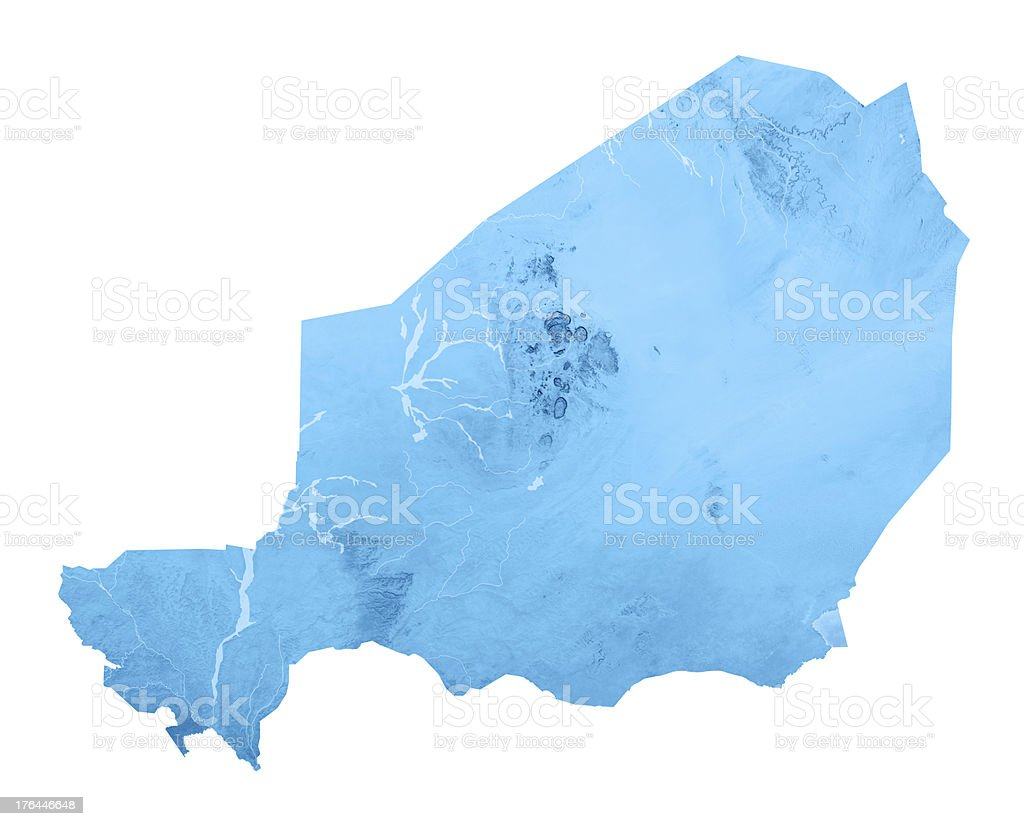 Niger Topographic Map Isolated royalty-free stock photo