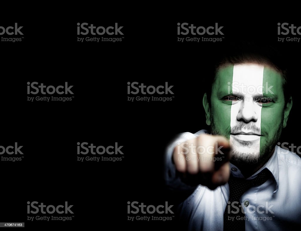 Nigeria Soccer Fan royalty-free stock photo