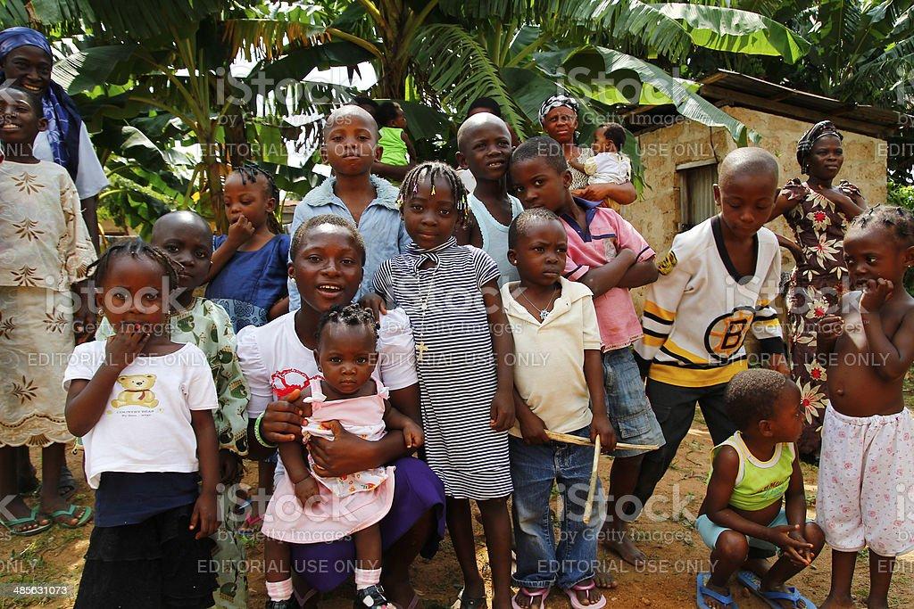 Nigerian boys and girls royalty-free stock photo