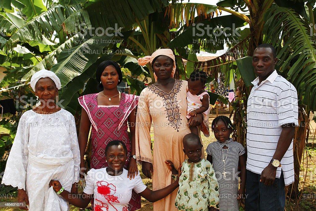 Nigerian family stock photo