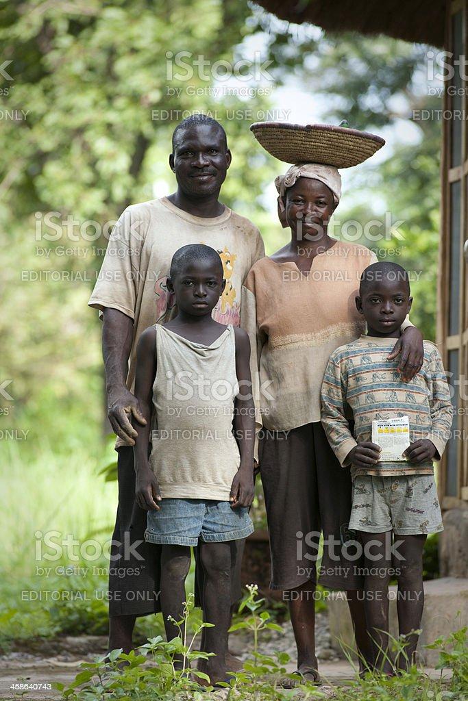 Nigerian family portrait stock photo