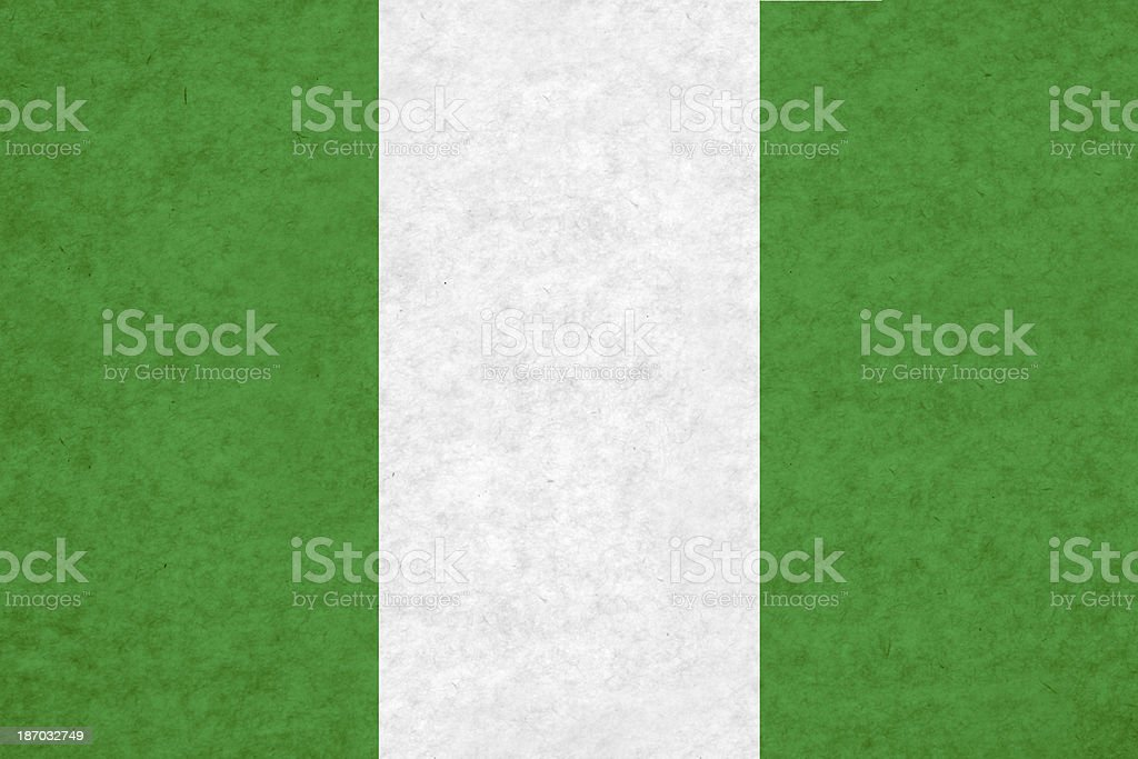 Nigerian flag royalty-free stock photo