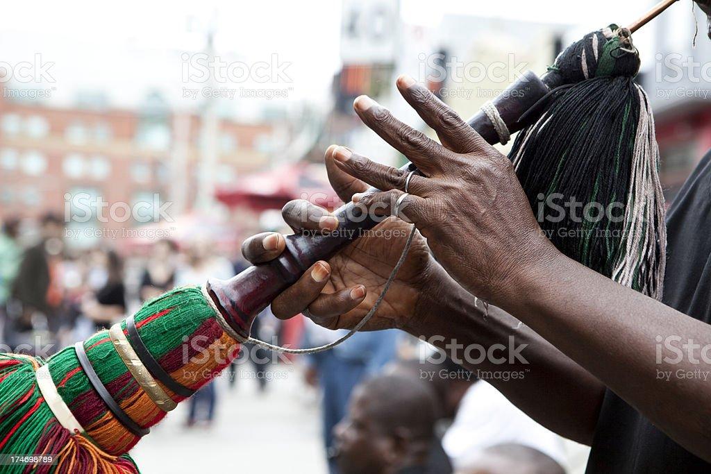 Nigerian horn royalty-free stock photo