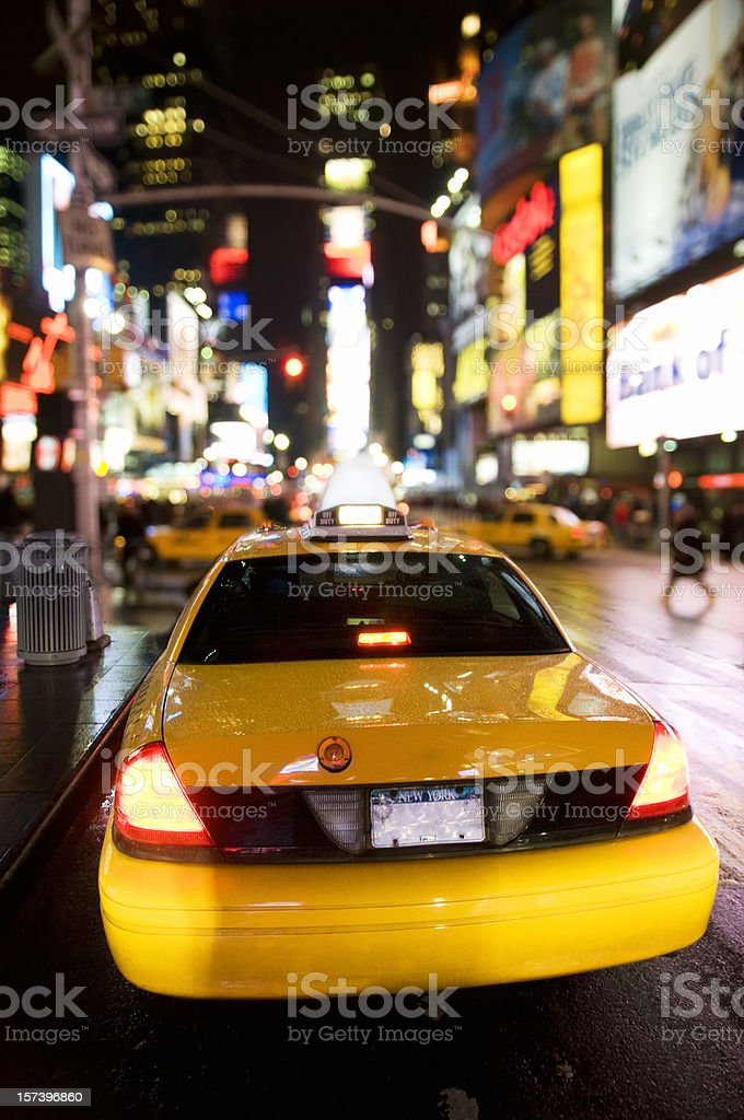 Nighlife in Times Square royalty-free stock photo
