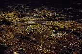 Night Aerial View of New York