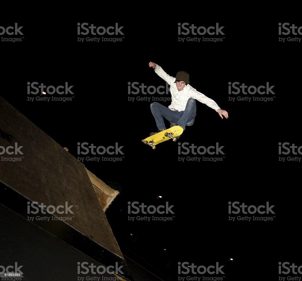 night air extreme skateboarder portrait royalty-free stock photo
