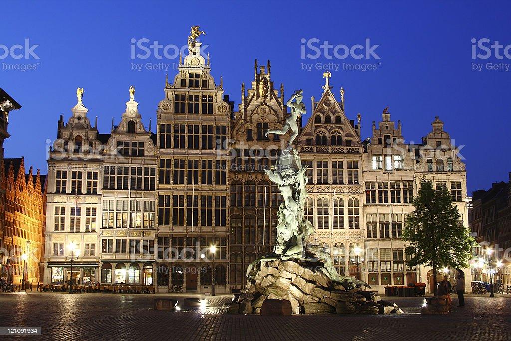 night Antwerp royalty-free stock photo