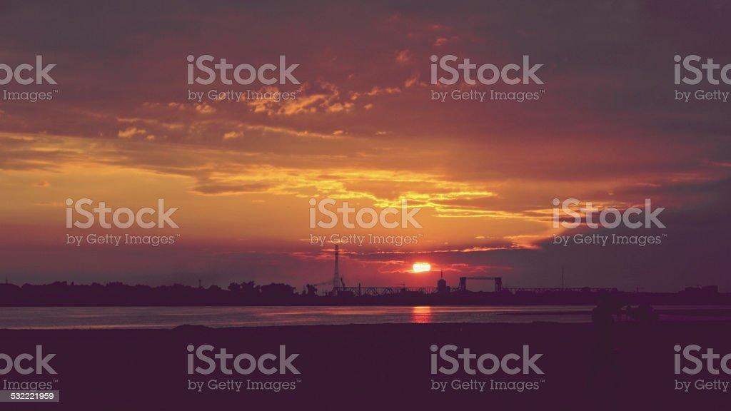 Night Archangelsk stock photo
