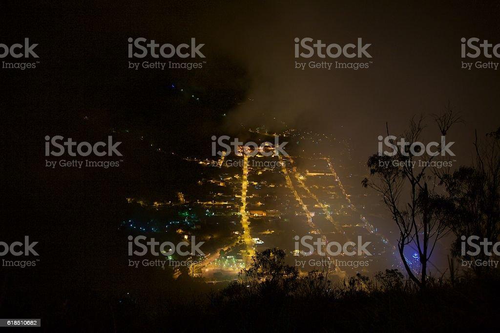 Night at Banos stock photo