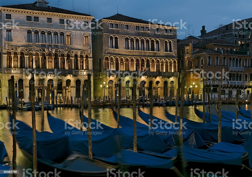 Night at Grand Canal in Venice royalty-free stock photo