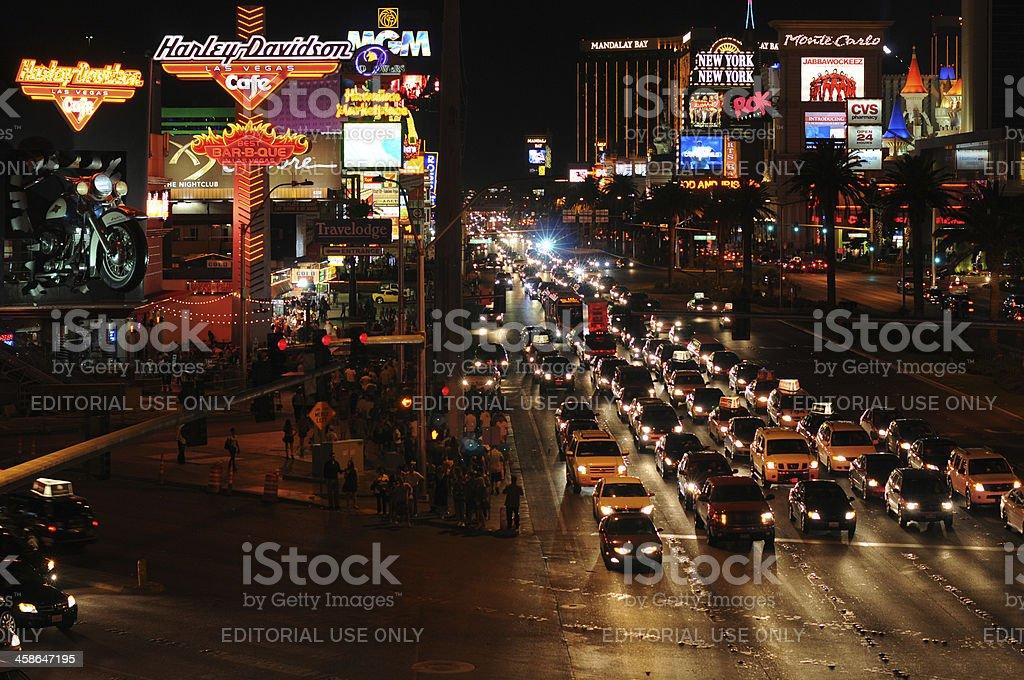 Night at Las Vegas Strip royalty-free stock photo