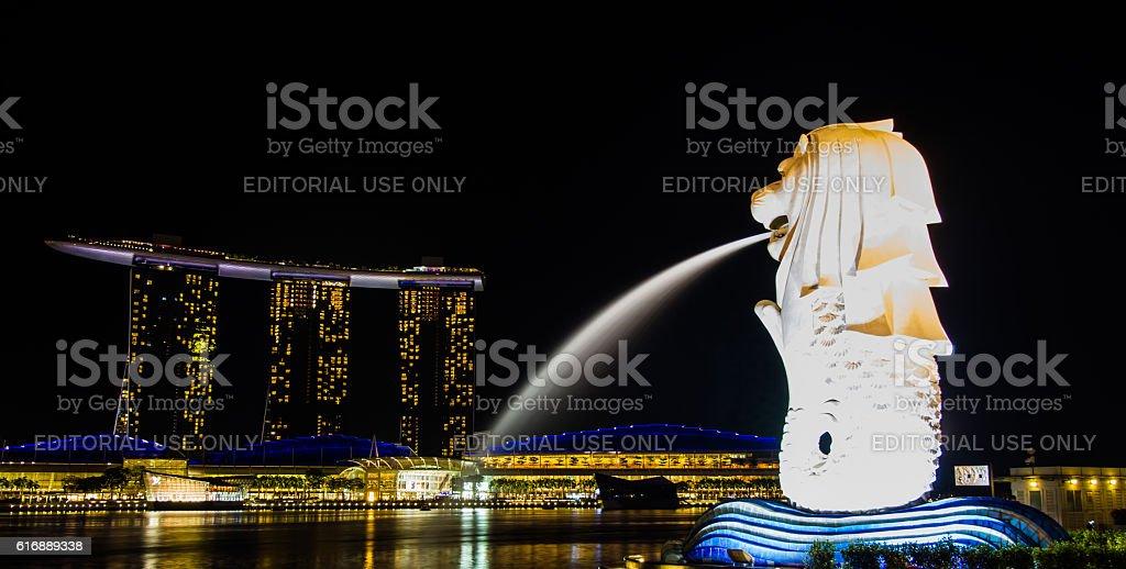Night at Singapore stock photo