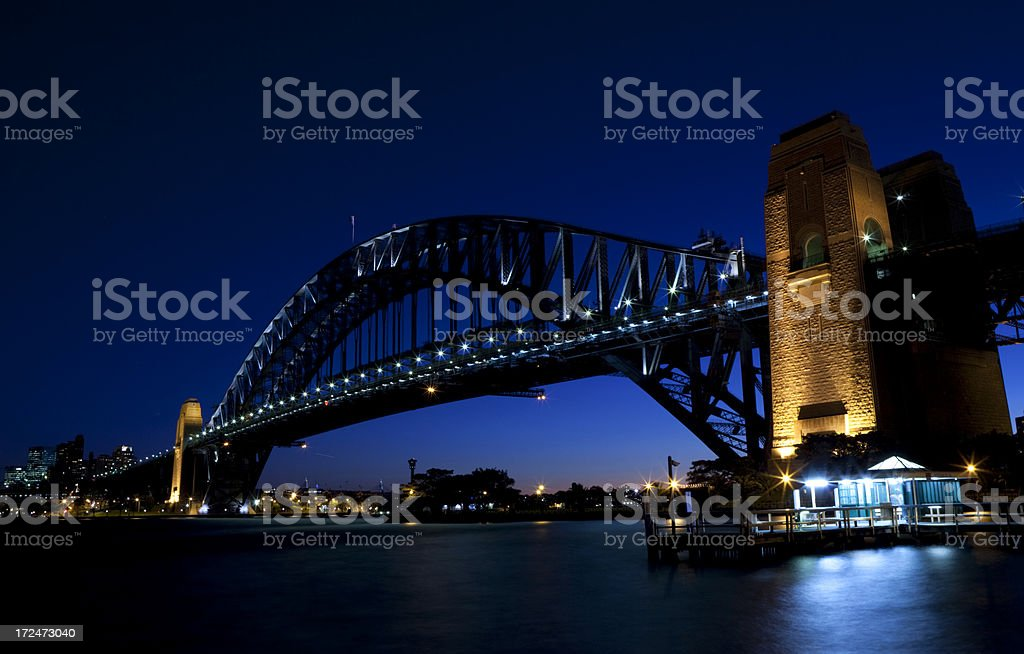 Night At Sydney Harbour royalty-free stock photo