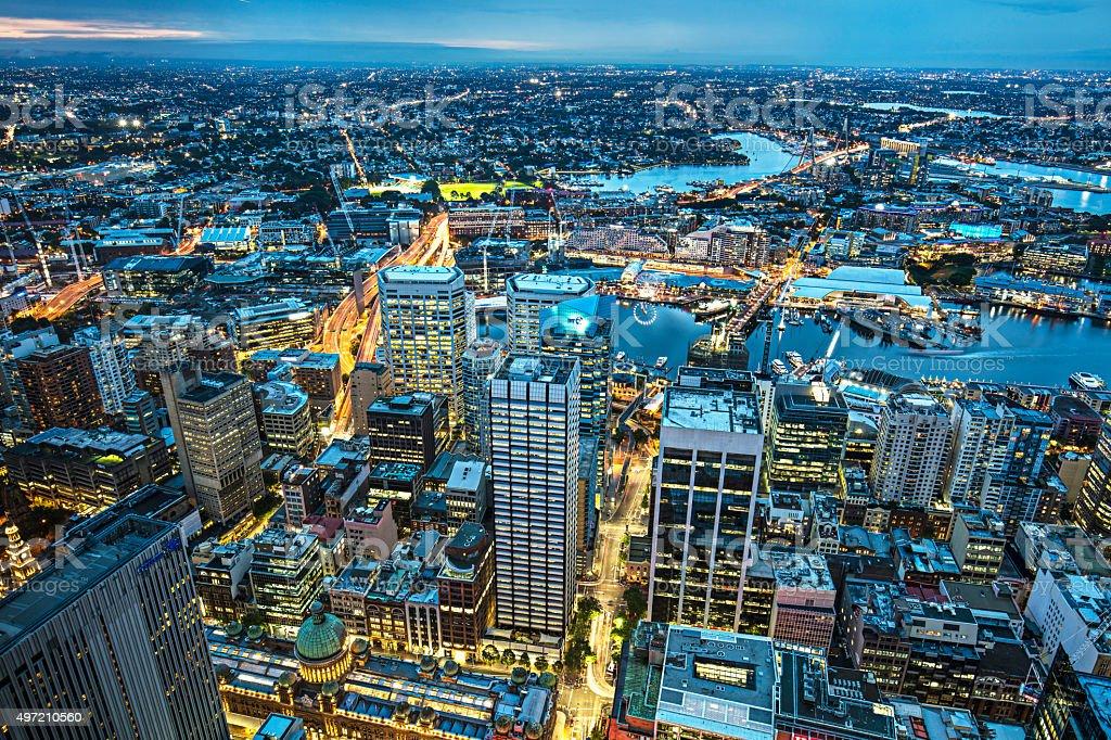 Night at Sydney stock photo