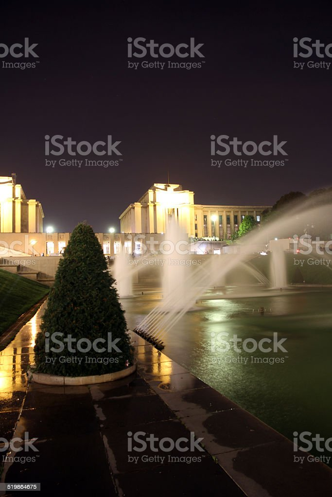 Night at the Fountain stock photo