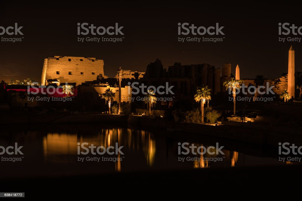 Night At The Karnak stock photo