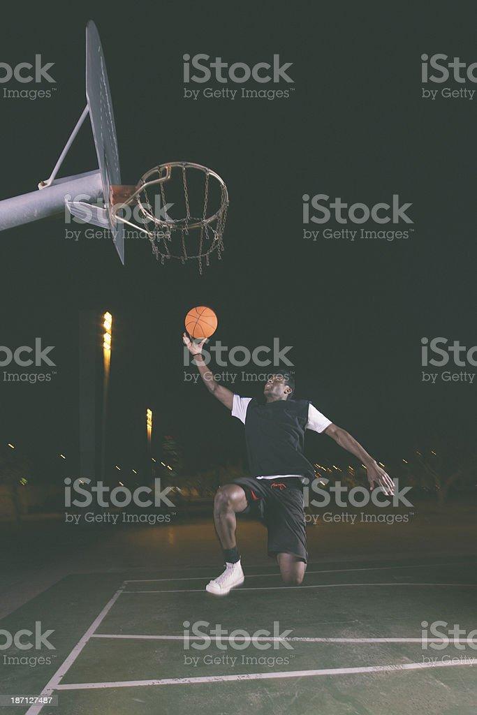 Night Basketball royalty-free stock photo