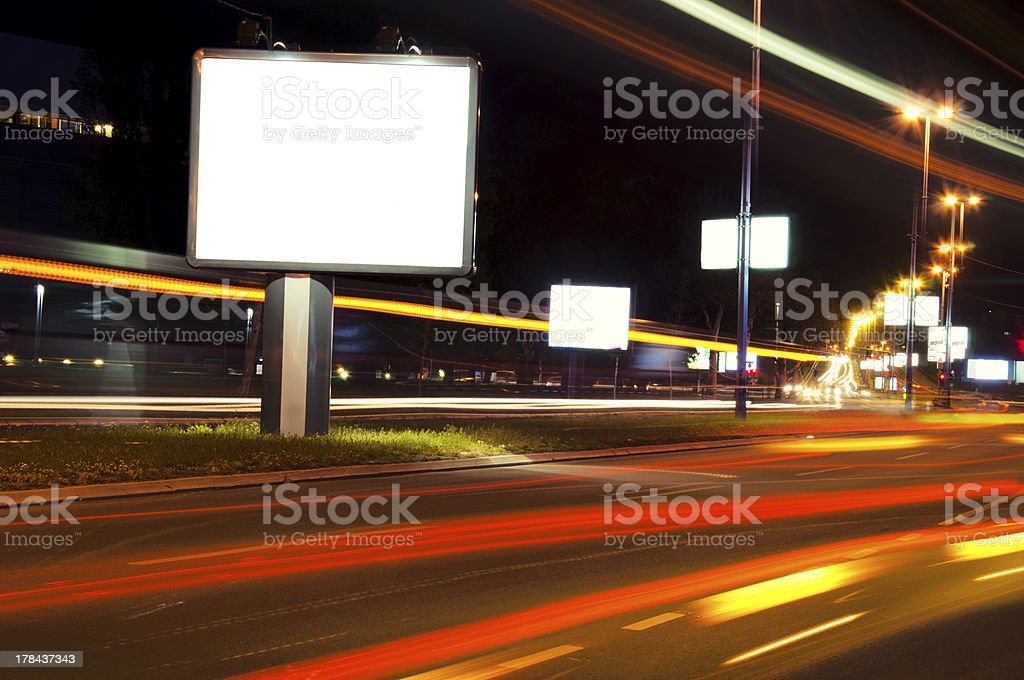 Night billboard royalty-free stock photo