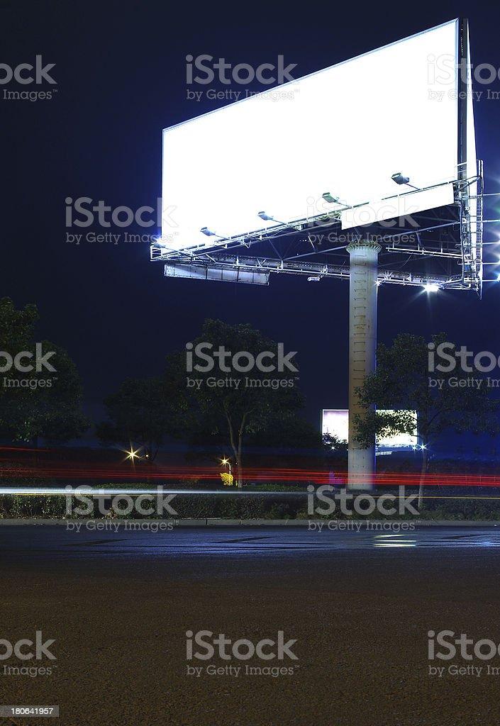 Night billboards royalty-free stock photo