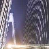 Night bridge road