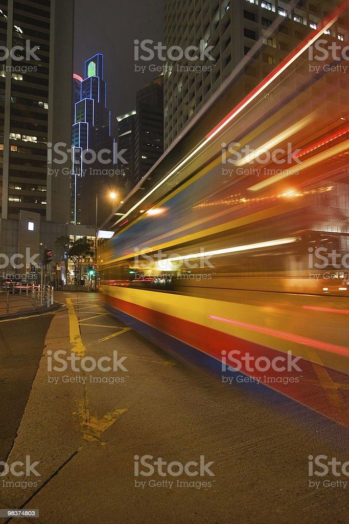 Night bus stock photo