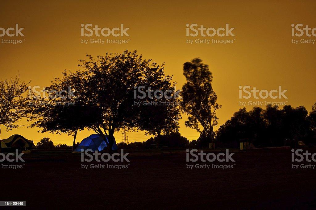 Night Camping stock photo