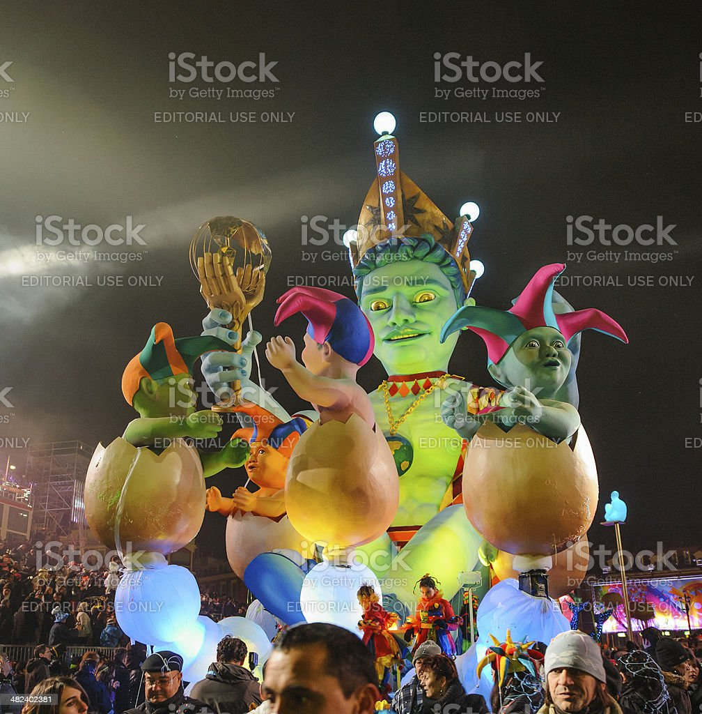 Night Carnival in Nice royalty-free stock photo