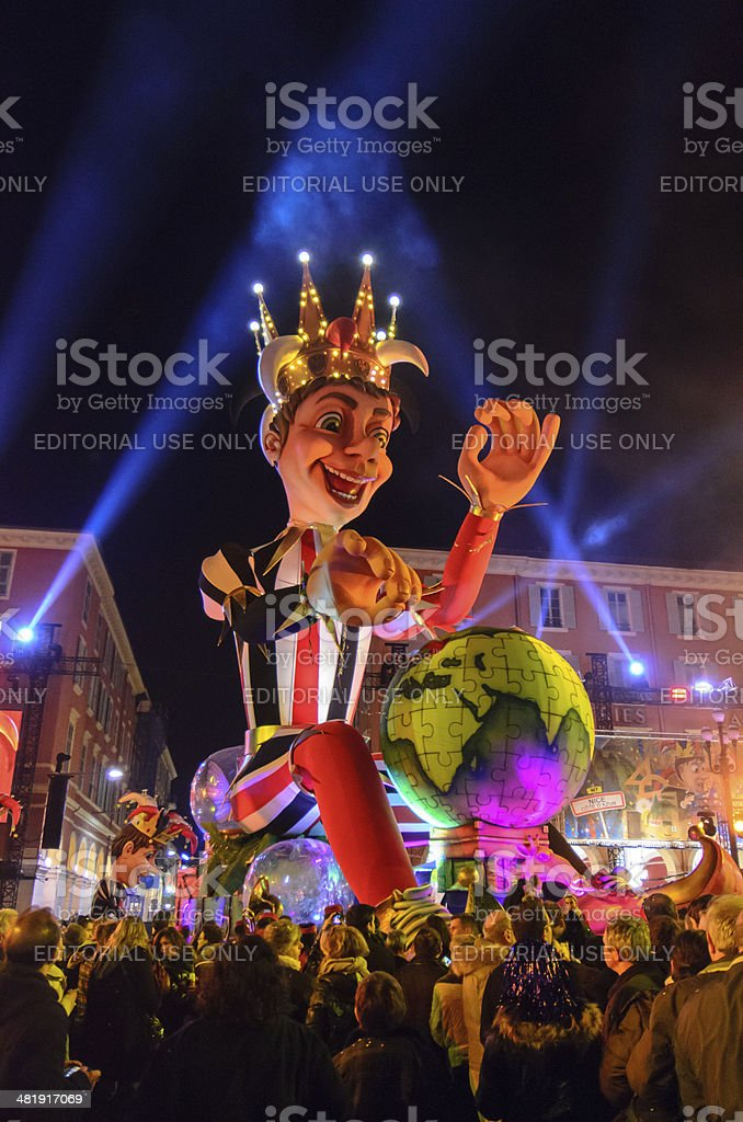 Night Carnival in Nicel royalty-free stock photo
