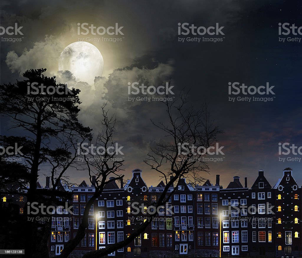 night city Amsterdam royalty-free stock photo