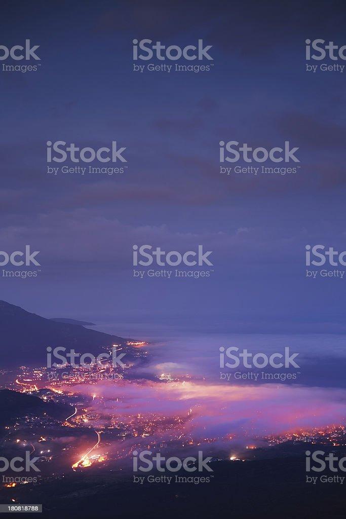 Night city royalty-free stock photo