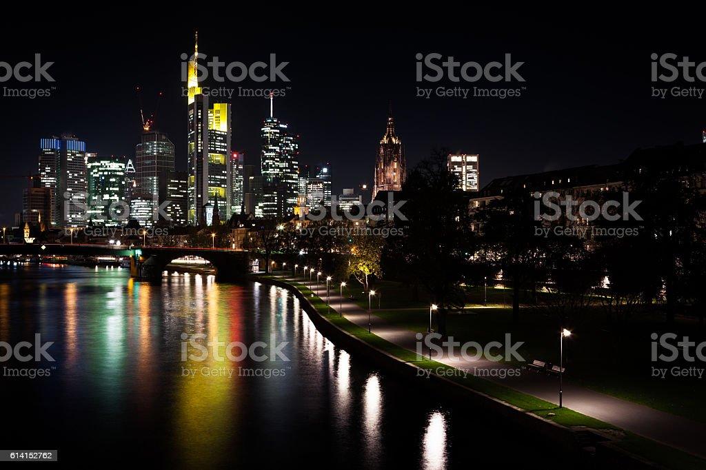 Night Cityscape of Frankfurt stock photo