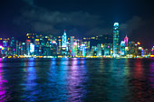 Night cityscape of Hongkong