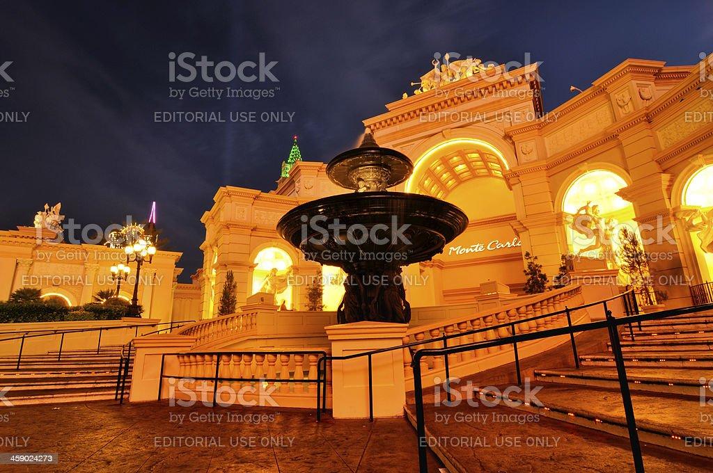 Night cityscape of Las Vegas, Nevada, USA royalty-free stock photo