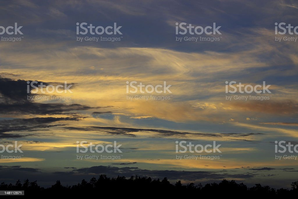 Night clouds royalty-free stock photo