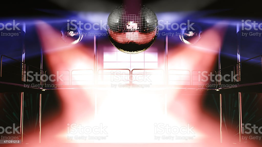 Night club discotheque colorful lights royalty-free stock photo