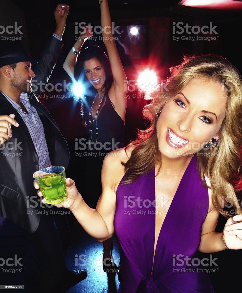 Night club enjoyment royalty-free stock photo