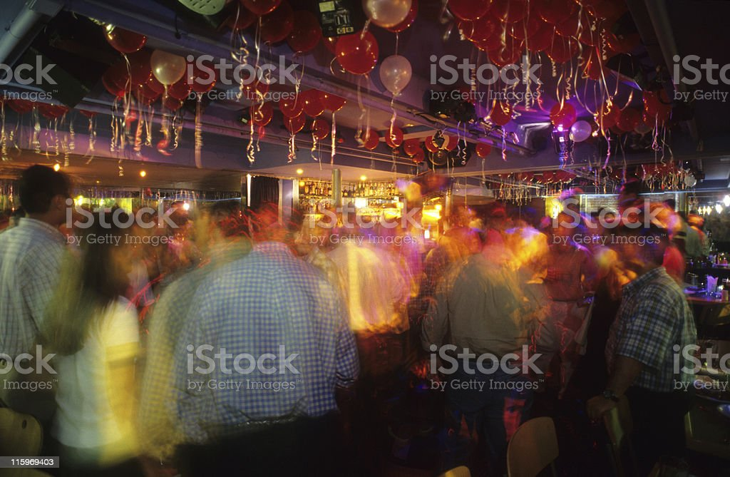 Night club party stock photo