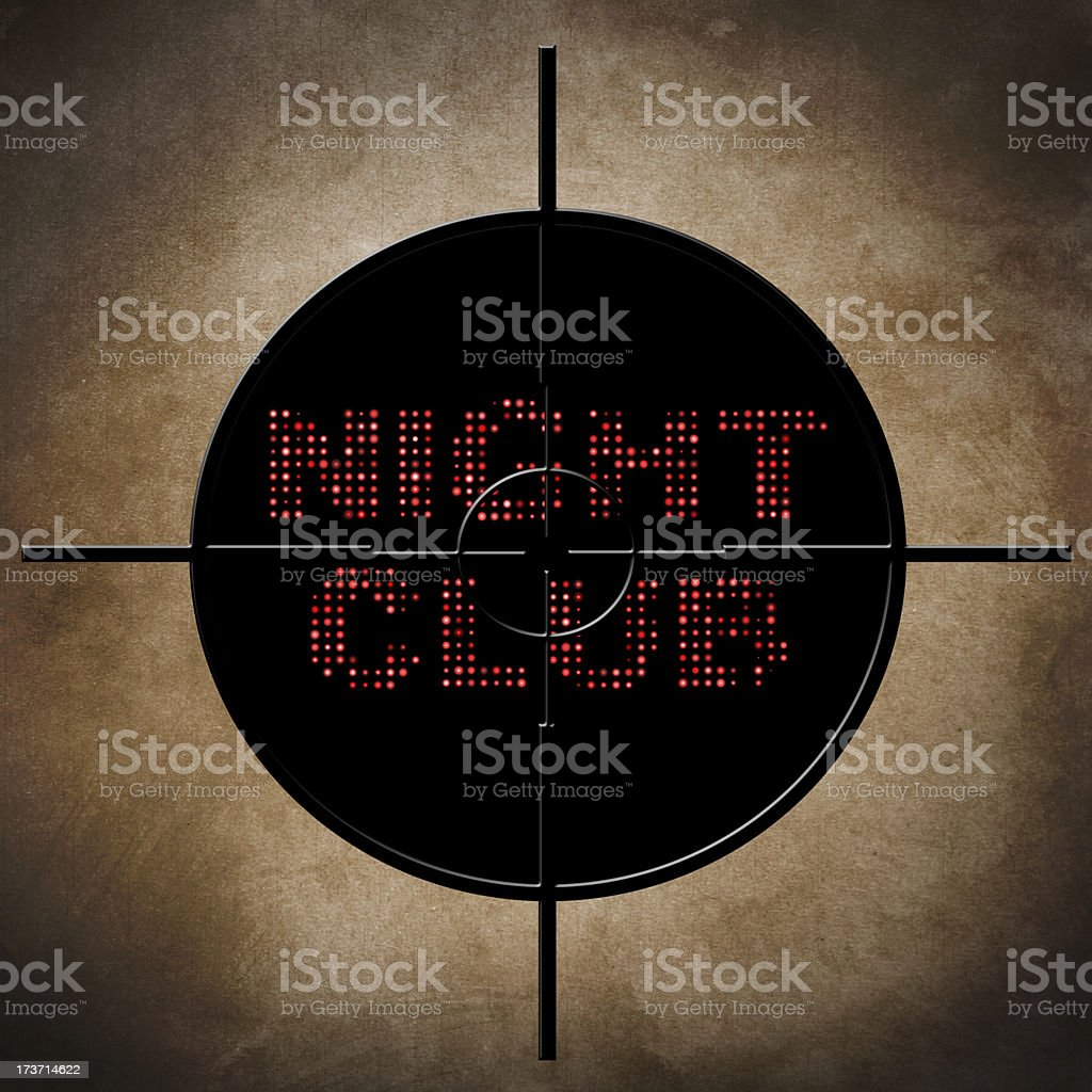 Night club target royalty-free stock photo