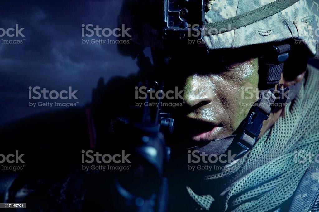 Night Combat royalty-free stock photo