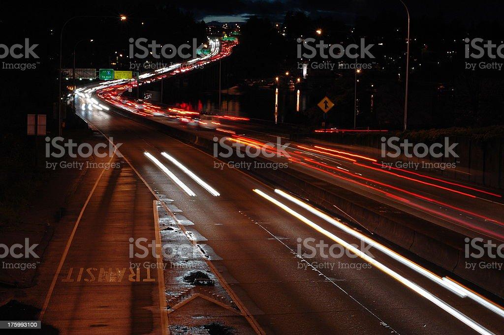 Night Commute stock photo