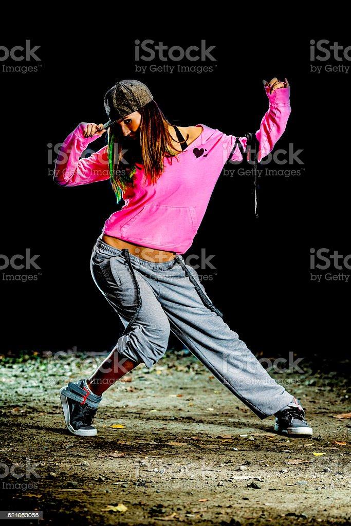 Night dancer stock photo