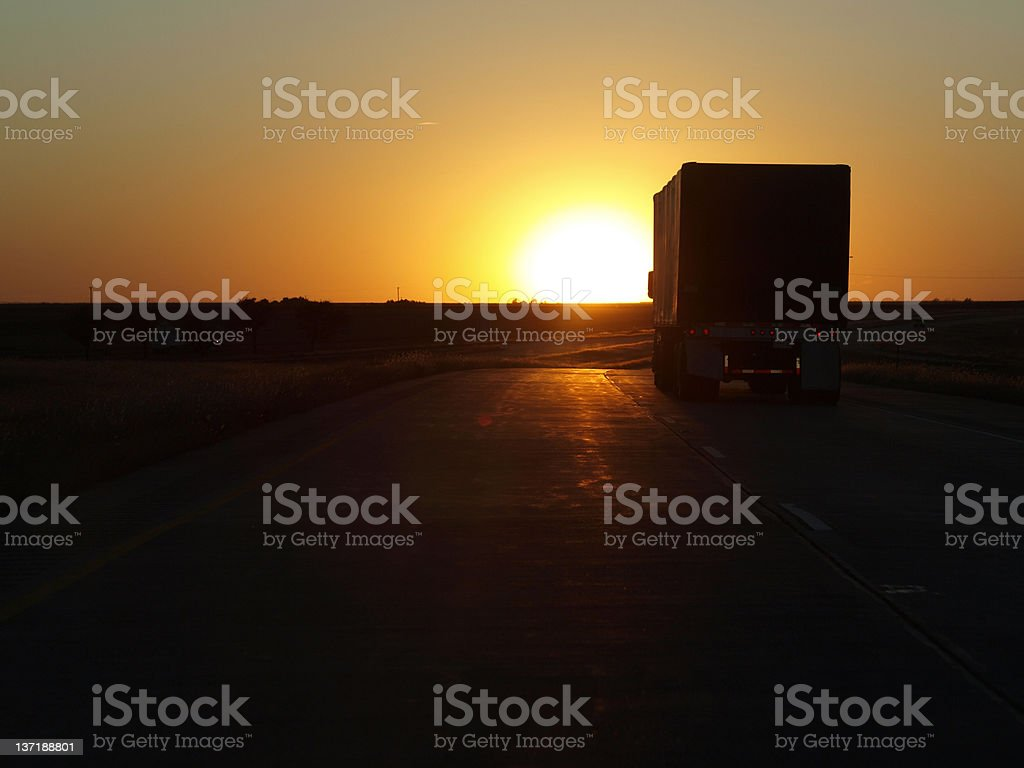 Night Delivery Truck stock photo
