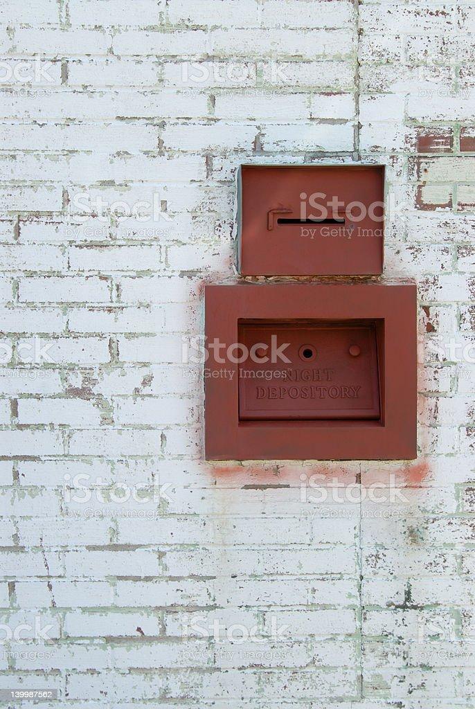 night deposit stock photo