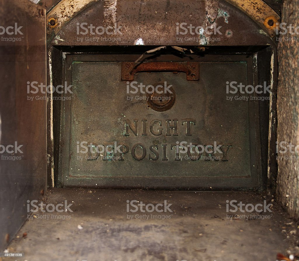 night depository 1 stock photo