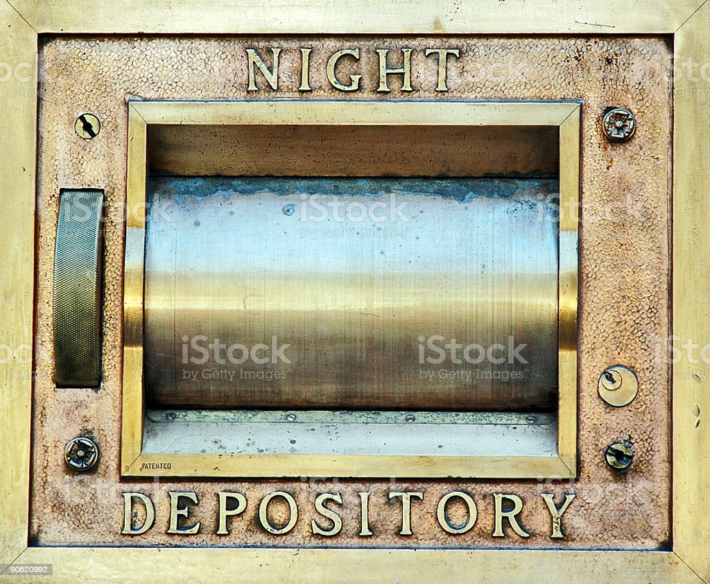 Night Depository stock photo