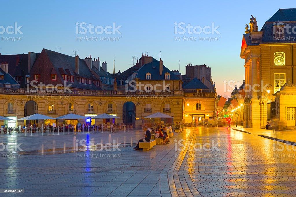 Night Dijon stock photo